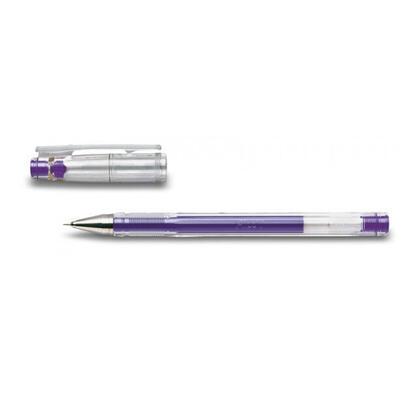 pilot-boligrafo-tinta-gel-para-escritura-fina-y-precisa-con-cuerpo-en-plastico-transparente-violeta
