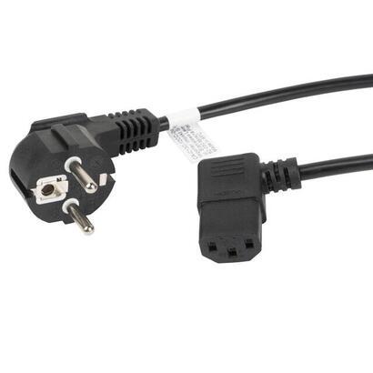 lanberg-cable-de-alimentacion-ca-c13c-12cc-0018-bk-conectores-schuko-iec320-c13-acodado-18-metros