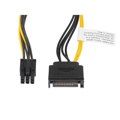 lanberg-cable-alimentacion-sata-a-conector-6-pin-pci-express-ca-sa6p-10cu-0020-20-cm