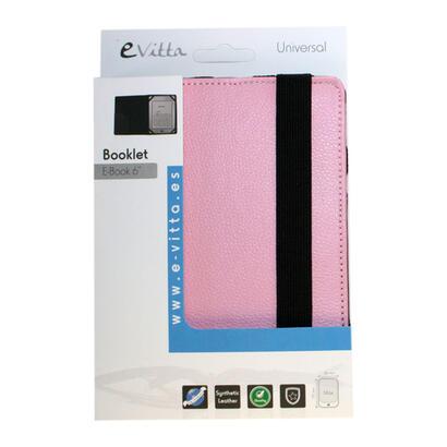 e-vitta-funda-universal-booklet-pink-para-ebook-61fijacion-moldes-de-plastico-cierre-con-banda