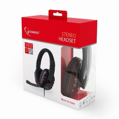 gembird-auriculares-ghs-402-diadema-con-microfono-negrorojo