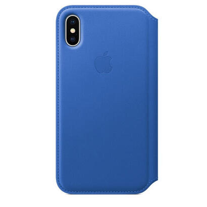 apple-funda-iphone-x-leather-folio-azul-electrico-mrge2zma