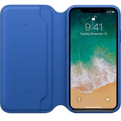 apple-funda-iphone-x-leather-folio-azul-electrico-mrge2zma