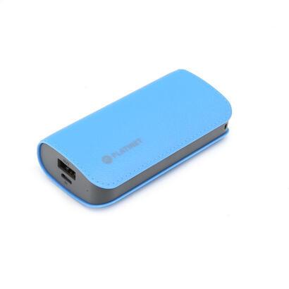 platinet-power-bank-5200mah-cuero-azulcable