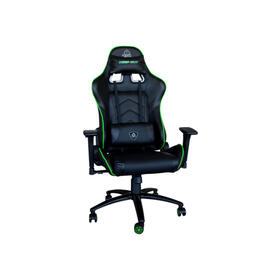 keepout-silla-gaming-xs400-pro-negroverde-reclinablereposabrazos-3d-zonas-contacto-reforzadoalmohada-lumbar-y-cuello