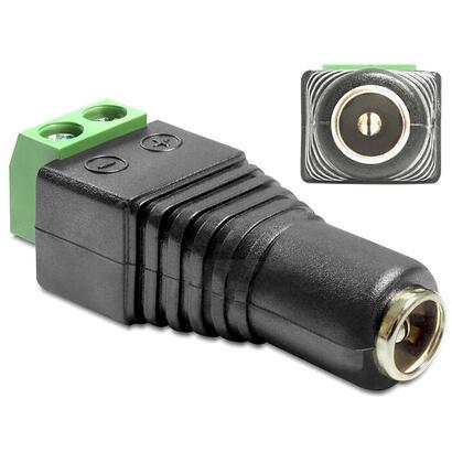 delock-adaptador-cc-55-x-25-mm-hembra-terminales-de-2-contactos-65485