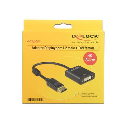 delock-adaptador-displayport-12-a-dvi-i-245-4k-activo-negro-62599