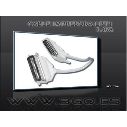 cable-impresora-lpt1-3go-c301paralelo-bidireccionaldb25-macho-a-c36-macho18m