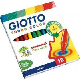 caja-12-uds-rotulador-turbo-color-giotto-punta-super-resistente-de-28-mm-tintas-seguras-a-base-de-agua-de-muy-larga-duracion-y-l