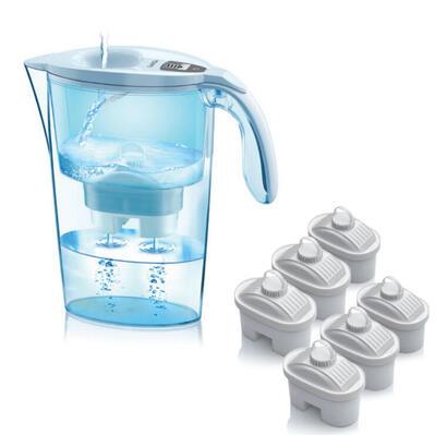 pack-jarra-filtrante-laica-stream-line-color-edition-blanca-6-filtros-bi-flux-capacidad-23l-filtro-desmontable-con-indicador
