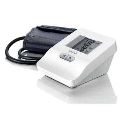 tensiometro-de-brazo-laica-bm2006-blanco-pantalla-lcd-453cm-mide-presion-arterialfrecuencia-cardiaca-brazalete-estandar-estuche-