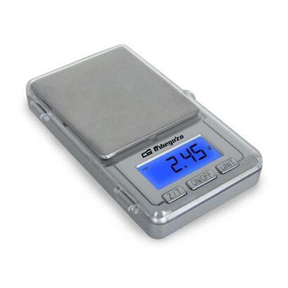 bascula-electronica-de-precision-orbegozo-pc-3000-plata-lcd-13mm-conversion-de-unidades-capacidad-max-100gr-funciona-a-pilas