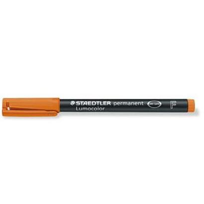 rotulador-permanente-staedtler-naranja-punta-f-06mm-lumocolor-superfino-318