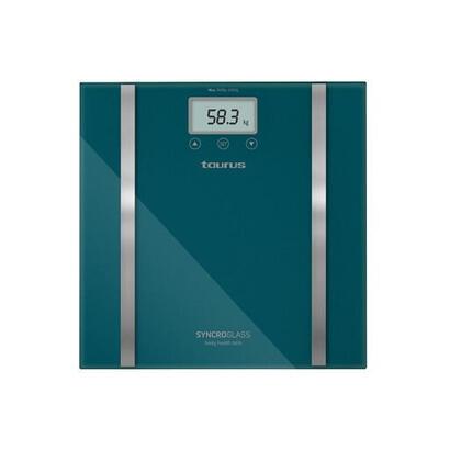bascula-de-bano-taurus-syncro-glass-capacidad-180kg-precision-100g-mide-porcentaje-grasa-y-agua-corporal-apagado-automatico