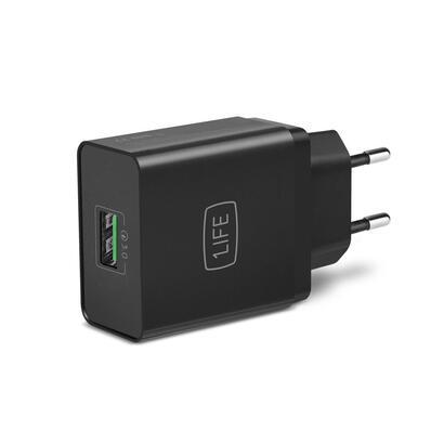 cargador-usb-casa-1life-quick-charge-negro-5v-3a-1ifepausbqc