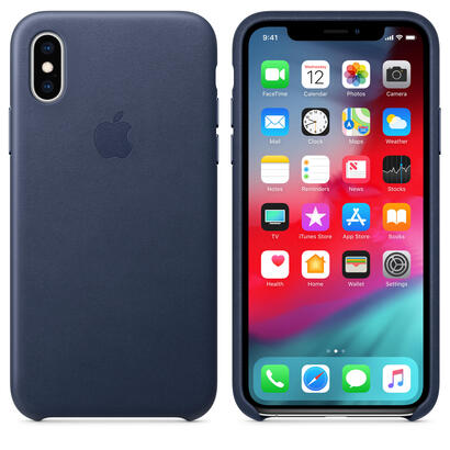 apple-iphone-xs-leather-case-midnight-blue