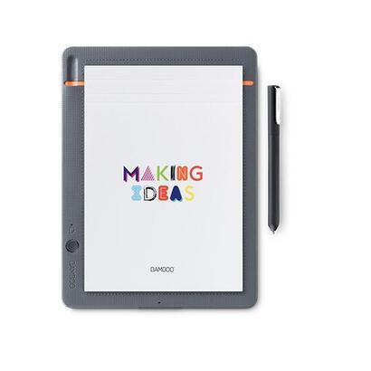 wacom-bamboo-slate-small-digitalizador-bluetooth-gris-medio-con-detalles-naranja