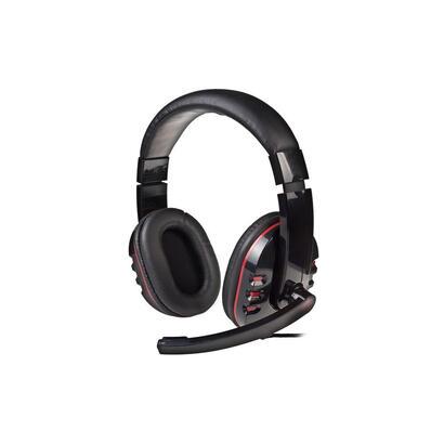 natec-genesis-h11-auriculares-diadema-negro-rojo